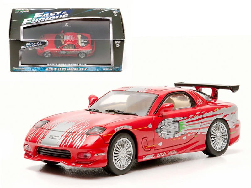"Dom - BeTovi&cos 1993 Mazda RX-7 Red \The Fast and The Furious"" Movie (2001) 1/43 Diecast Car Model by Greenlight"" - BeTovi&co"