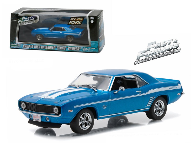 "Brian - BeTovi&cos 1969 Chevrolet Yenko Camaro \The Fast and The Furious-2 Fast 2 Furious"" Movie (2003) 1/43 Diecast Model Car by Greenlight "" - BeTovi&co"