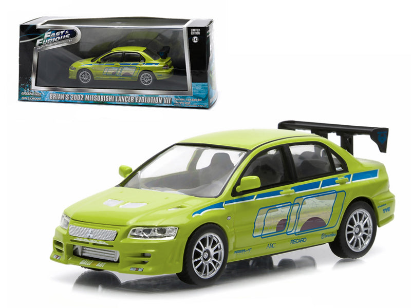 "Brian - BeTovi&cos 2002 Mitsubishi Lancer Evolution VII \The Fast and The Furious"" Movie (2003) 1/43 Diecast Model Car by Greenlight"" - BeTovi&co"