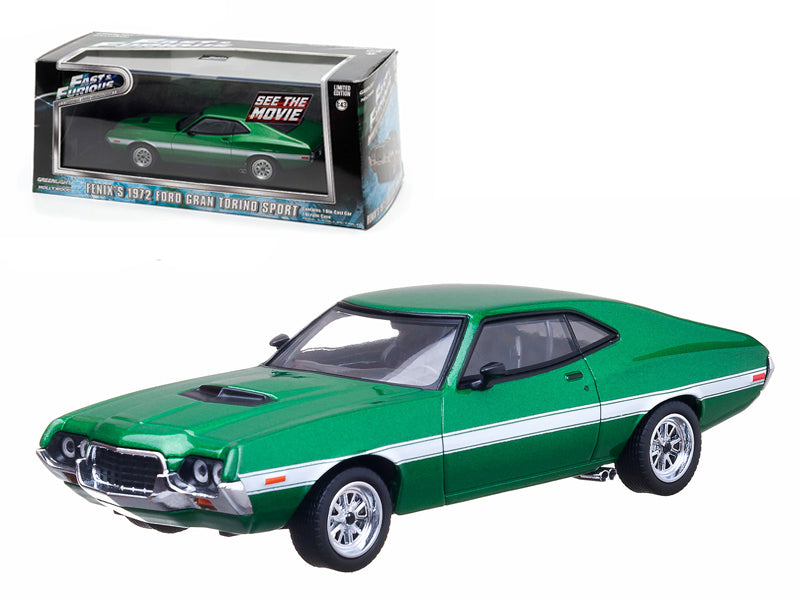 "Fenix - BeTovi&cos 1972 Ford Gran Torino Green \The Fast and The Furious"" Movie (2009) 1/43 Diecast Car Model by Greenlight"" - BeTovi&co"