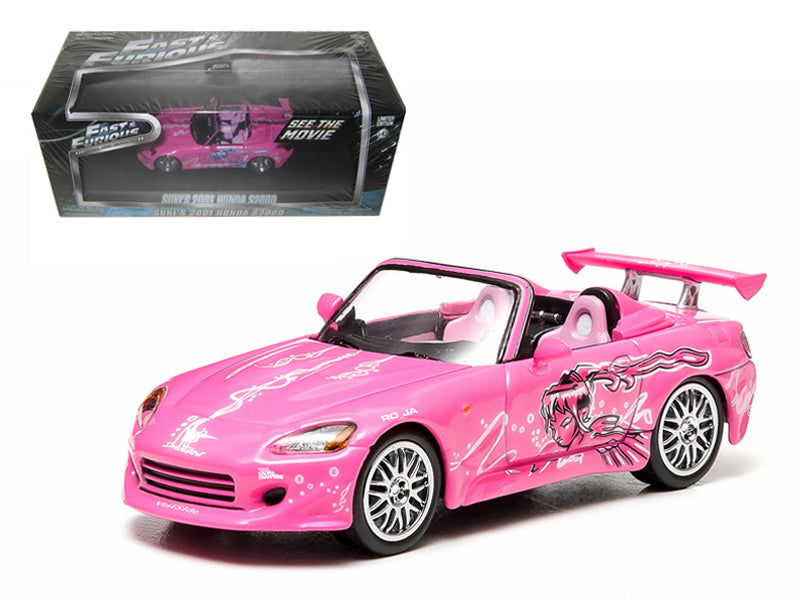 "Suki - BeTovi&cos 2001 Honda S2000 Pink  Fast and 2 Furious"" Movie (2003) 1/43 Diecast Model Car by Greenlight"" - BeTovi&co"