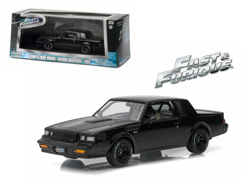 Dom - BeTovi&cos 1987 Buick Grand National GNX 'The Fast and the Furious' Movie (2009) 1/43 Diecast Model Car by Greenlight - BeTovi&co