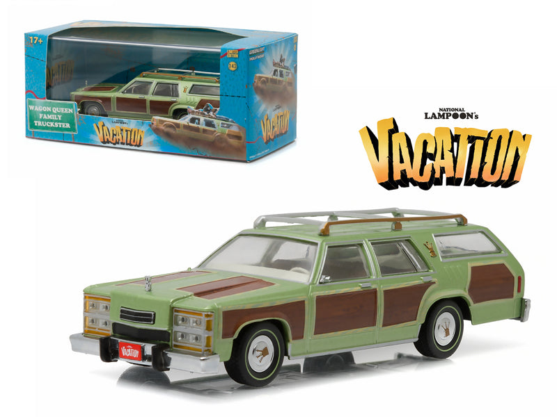 "1979 Family Truckster Wagon Queen \National Lampoon - BeTovi&cos Vacation"" (1983) Movie 1/43 Diecast Model Car by Greenlight"" - BeTovi&co"