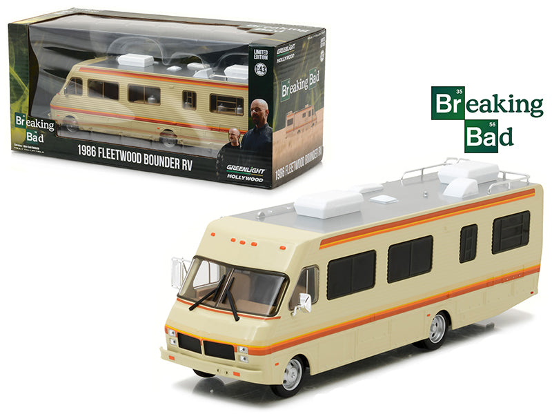 1986 Fleetwood Bounder RV Breaking Bad (2008-13 TV Series) 1/43 Diecast Model Car  by Greenlight - BeTovi&co