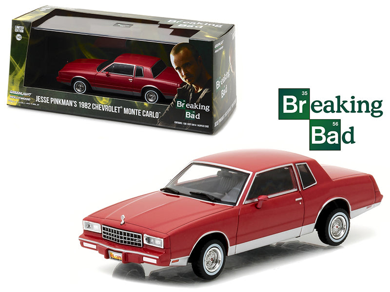 Jesse Pinkman - BeTovi&cos 1982 Chevrolet Monte Carlo Breaking Bad (2008-2013) TV Series 1/43 Diecast Model Car by Greenlight - BeTovi&co