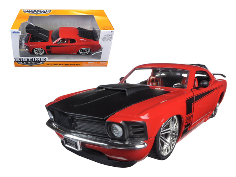 1970 Ford Mustang Boss 429 Red 1/24 Diecast Model Car by Jada - BeTovi&co
