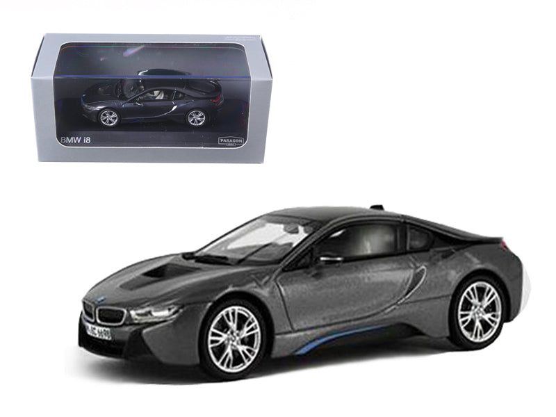 BMW i8 Grey with Blue 1/43 Diecast Model Car by Paragon - BeTovi&co