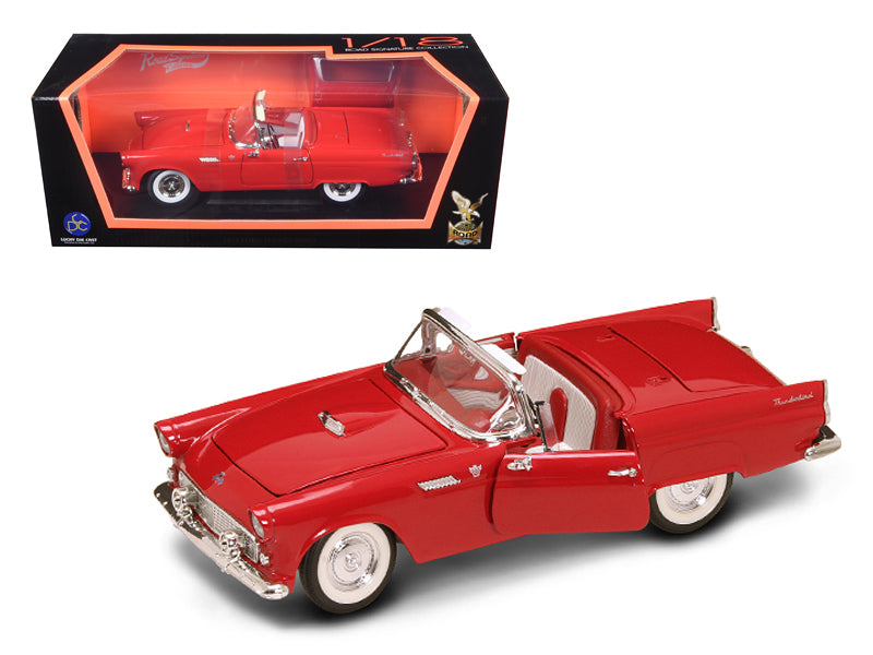1955 Ford Thunderbird Red With Red Roof 1/18 Diecast Model Car by Road Signature - BeTovi&co