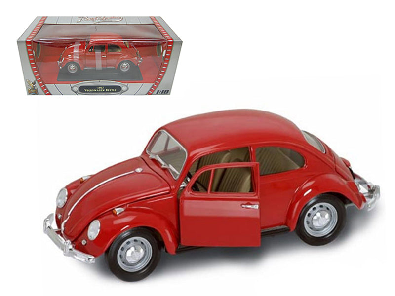 1967 Volkswagen Beetle Red 1/18 Diecast Model Car by Road Signature - BeTovi&co