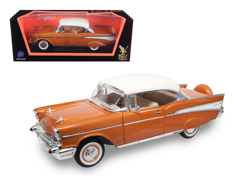 1957 Chevrolet Bel Air Hardtop Bronze 1/18 Diecast Model Car by Road Signature - BeTovi&co