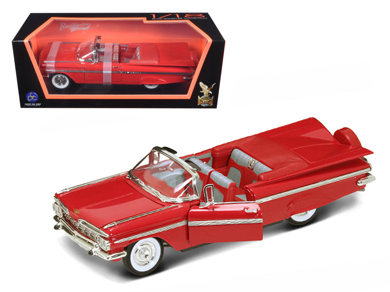 1959 Chevrolet Impala Convertible Red 1/18 Diecast Model by Road Signature - BeTovi&co