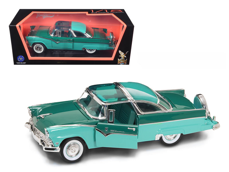 1955 Ford Fairlane Crown Victoria Green 1/18 Diecast Car by Road Signature - BeTovi&co
