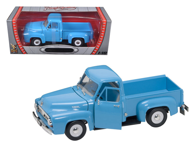 1953 Ford F-100 Pickup Light Blue 1/18 Diecast Car by Road Signature - BeTovi&co