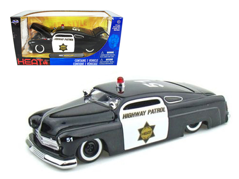 1951 Mercury Police 1/24 Diecast Model Car by Jada - BeTovi&co