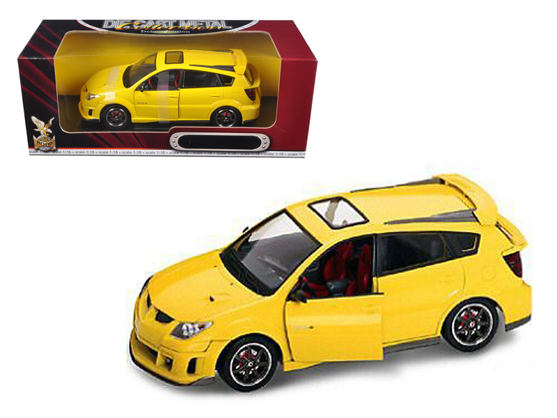 2003 Pontiac Vibe GTR Yellow 1/18 Diecast Car by Road Signature - BeTovi&co