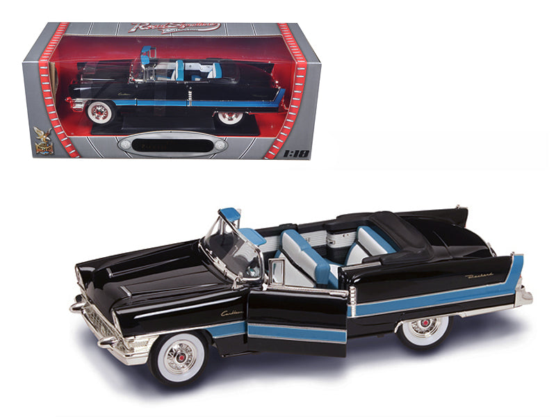 1955 Packard Caribbean Convertible Black 1/18 Diecast Model Car by Road Signature - BeTovi&co
