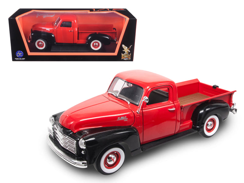 1950 GMC Pickup Truck Red/Black 1/18 Diecast Model Car by Road Signature - BeTovi&co