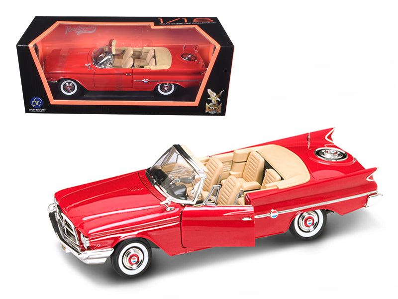 1960 Chrysler 300F Red 1/18 Diecast Car by Road Signature - BeTovi&co