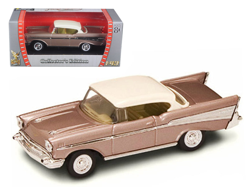 1957 Chevrolet Bel Air Pearl 1/43 Diecast Model Car by Road Signature - BeTovi&co