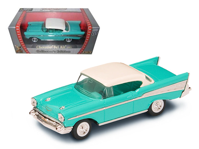 1957 Chevrolet Bel Air Turquoise 1/43 Diecast Model Car by Road Signature - BeTovi&co