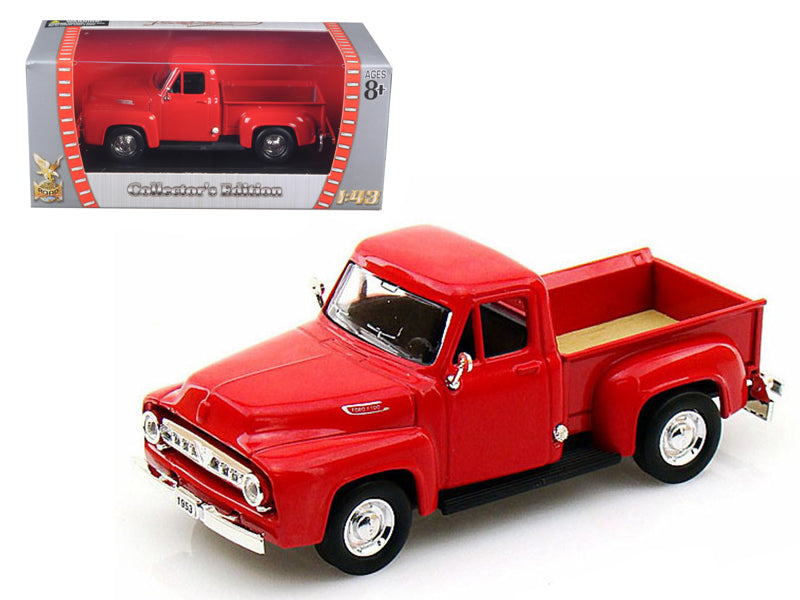 1953 Ford F-100 Pickup Red 1/43 Diecast Car Model by Road Signature - BeTovi&co