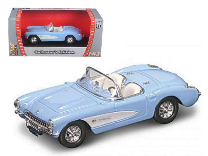 1957 Chevrolet Corvette Blue 1/43 Diecast Model Car by Road Signature - BeTovi&co