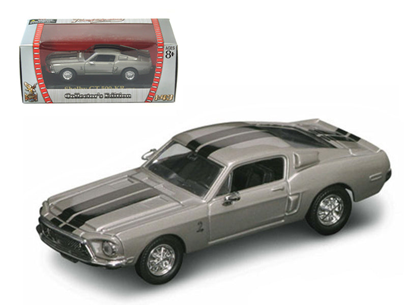 1968 Shelby GT 500 KR Silver 1/43 Diecast Car by Road Signature - BeTovi&co