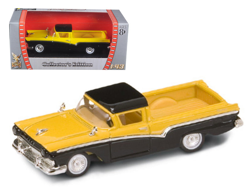 1957 Ford Ranchero Yellow/Black 1/43 Diecast Model Car by Road Signature - BeTovi&co