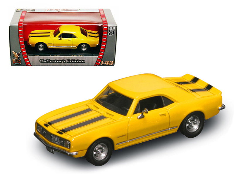 1967 Chevrolet Camaro Z-28 Yellow 1/43 Diecast Model Car by Road Signature - BeTovi&co