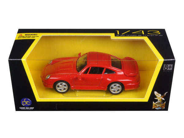 1996 Porsche 911 Turbo Red 1/43 Diecast Model Car by Road Signature - BeTovi&co