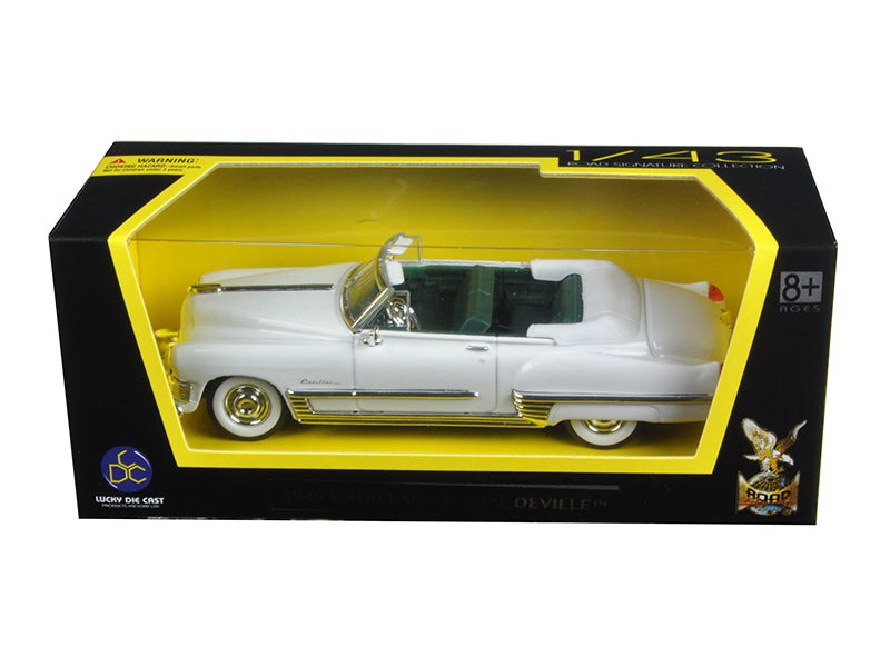 1949 Cadillac Coupe De Ville White 1/43 Diecast Model Car by Road Signature - BeTovi&co