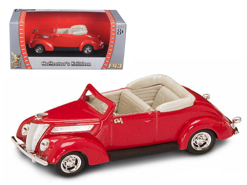 1937 Ford V8 Convertible Red 1/43 Diecast Car by Road Signature - BeTovi&co