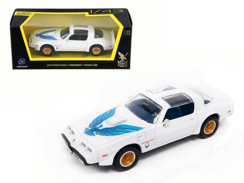 1979 Pontiac Firebird Trans Am White 1/43 Diecast Model Car by Road Signature - BeTovi&co
