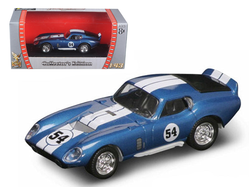 1965 Shelby Cobra Daytona #54 Blue 1/43 Diecast Model Car by Road Signature - BeTovi&co