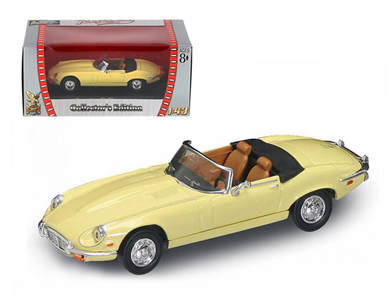 1971 Jaguar E Type Convertible Yellow 1/43 Diecast Model Car by Road Signature - BeTovi&co