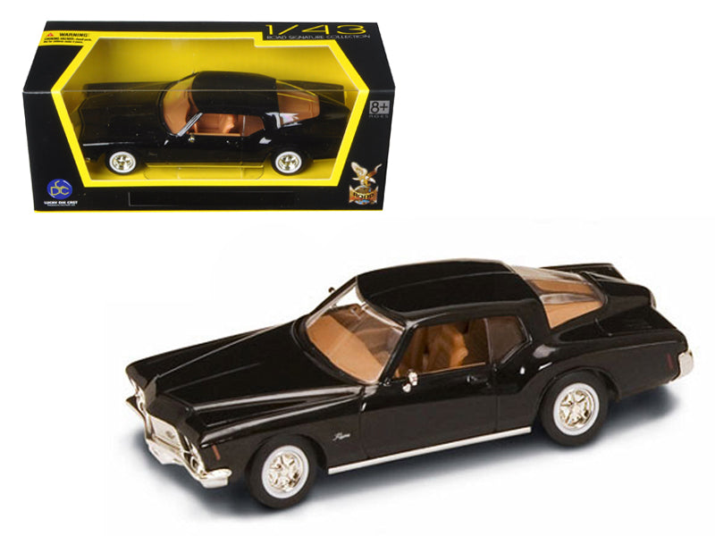 1971 Buick Riviera GS Black Diecast Model Car 1/43 by Road Signature - BeTovi&co