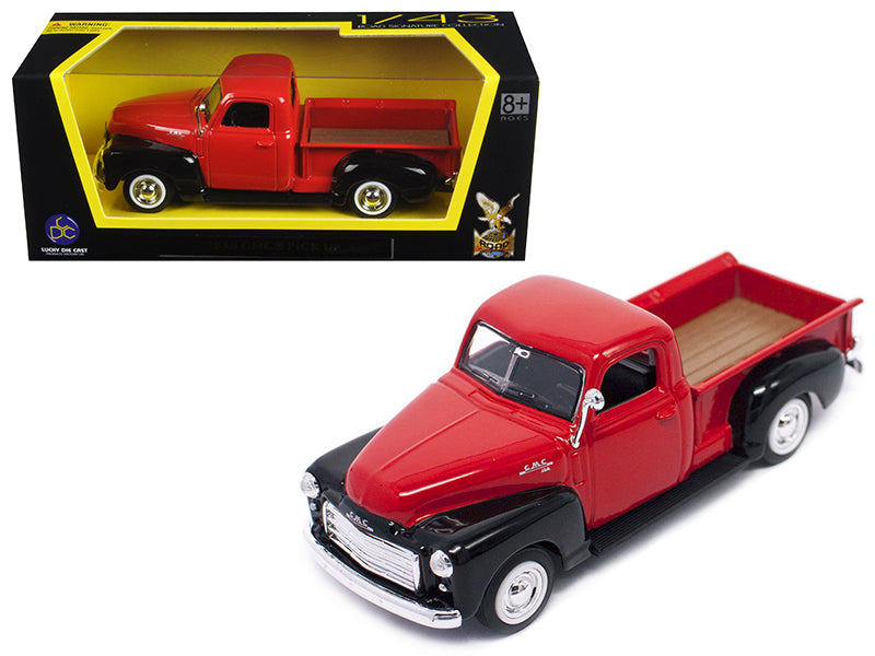 1950 GMC Pickup Truck Red/Black 1/43 Diecast Model Car by Road Signature - BeTovi&co