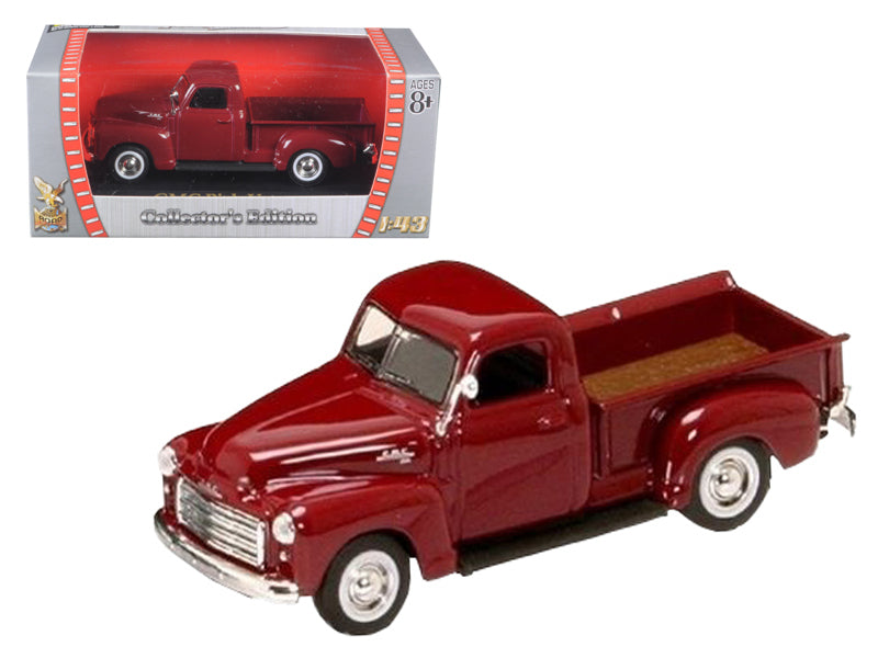 1950 GMC Pick Up Burgundy 1/43 Diecast Car by Road Signature - BeTovi&co
