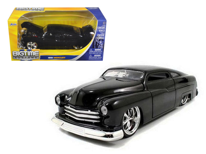 1951 Mercury Black With KMC Wheels 1/24 Diecast Model Car by Jada - BeTovi&co