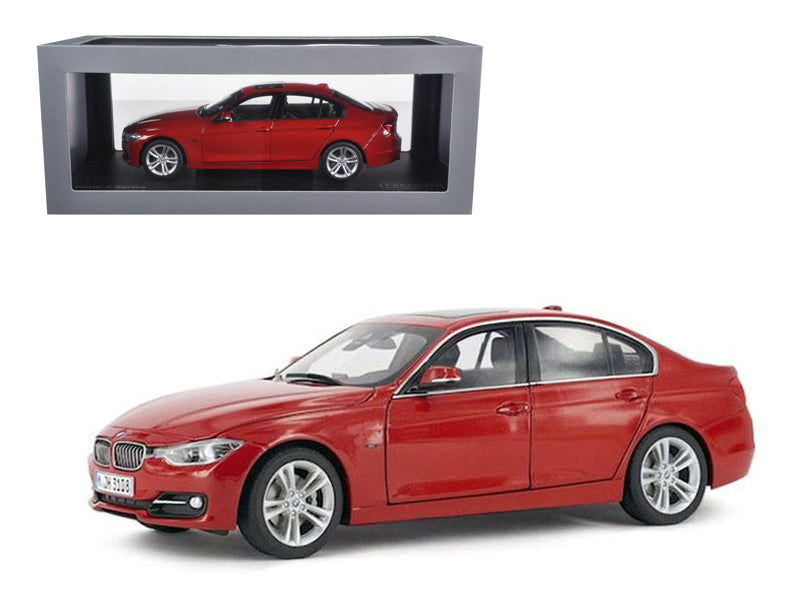 BMW F30 3 Series Melbourne Red 1/18 Diecast Car Model by Paragon - BeTovi&co