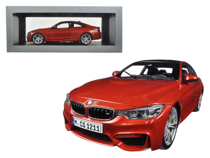 BMW M4 Coupe Orange 1/18 Diecast Model Car by Paragon - BeTovi&co