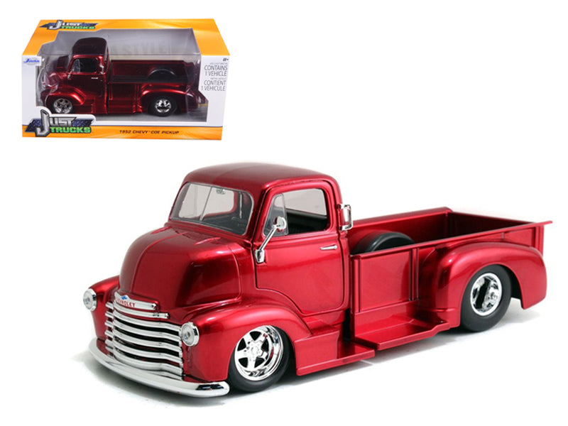 1952 Chevrolet COE Pickup Truck Red with Chrome Wheels 1/24 Diecast Model by Jada - BeTovi&co