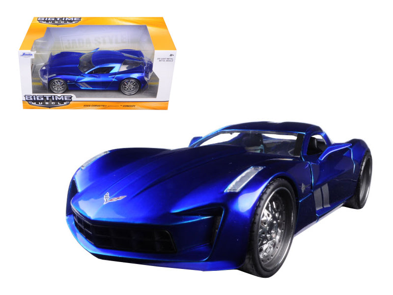 2009 Chevrolet Corvette Stingray Concept Blue 1/24 Diecast Model Car by Jada - BeTovi&co