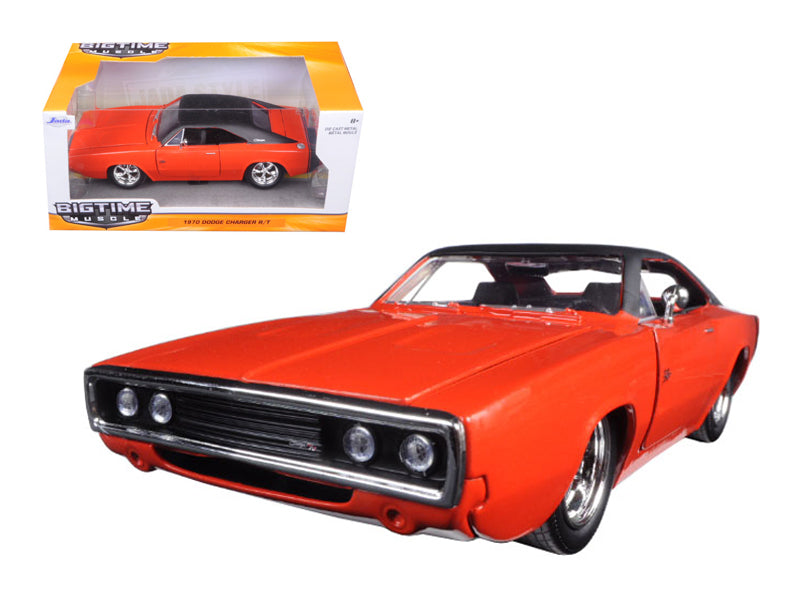 1970 Dodge Charger R/T Orange 1/24 Diecast Model Car by Jada - BeTovi&co