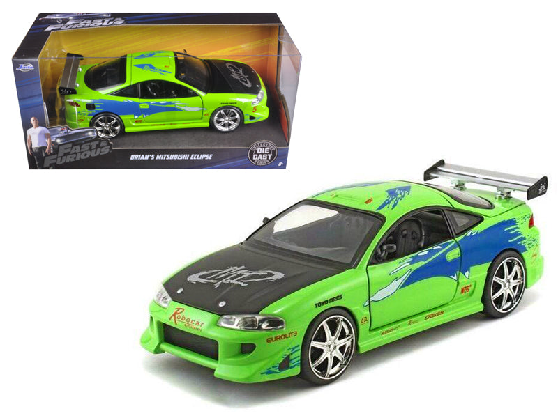 Brian - BeTovi&cos Mitsubishi Eclipse Green 'The Fast & Furious ' Movie (2001) 1/24 Diecast Model Car  by Jada - BeTovi&co