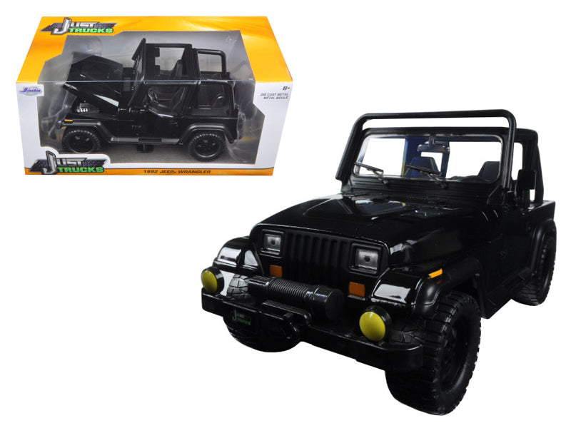 1992 Jeep Wrangler Black 1/24 Diecast Model Car by Jada - BeTovi&co