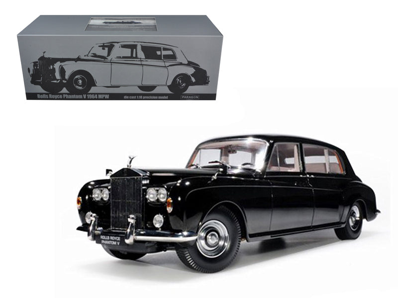 1964 Rolls Royce Phantom V MPW Black 1/18 Diecast Model Car by Paragon - BeTovi&co