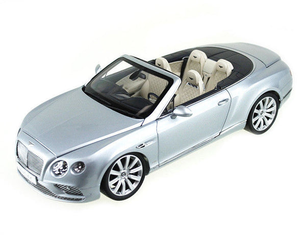 2016 Bentley Continental GT Convertible LHD Silver Frost 1/18 Diecast Model Car by Paragon - BeTovi&co
