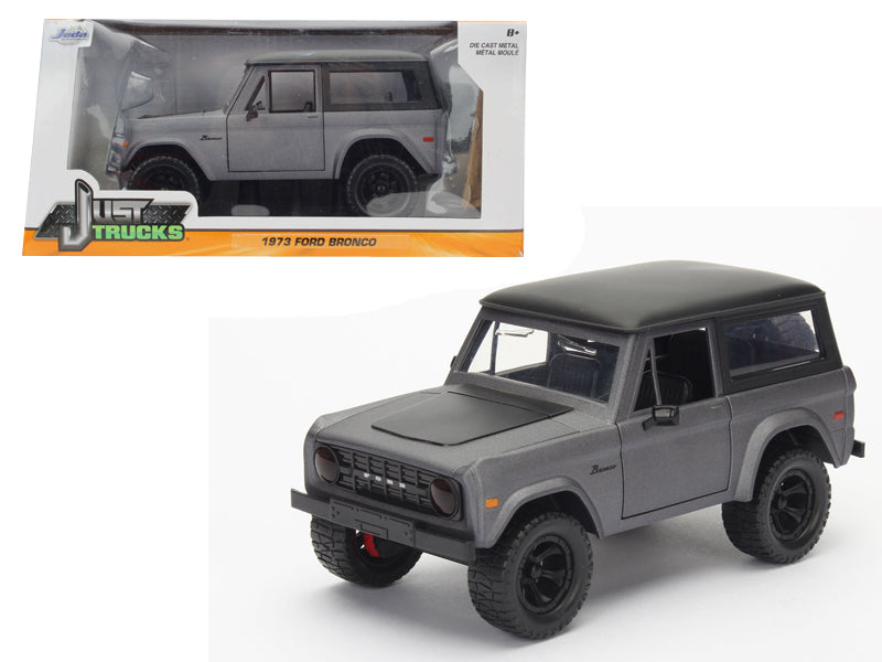 1973 Ford Bronco Matt Grey 1/24 Diecast Model Car by Jada - BeTovi&co