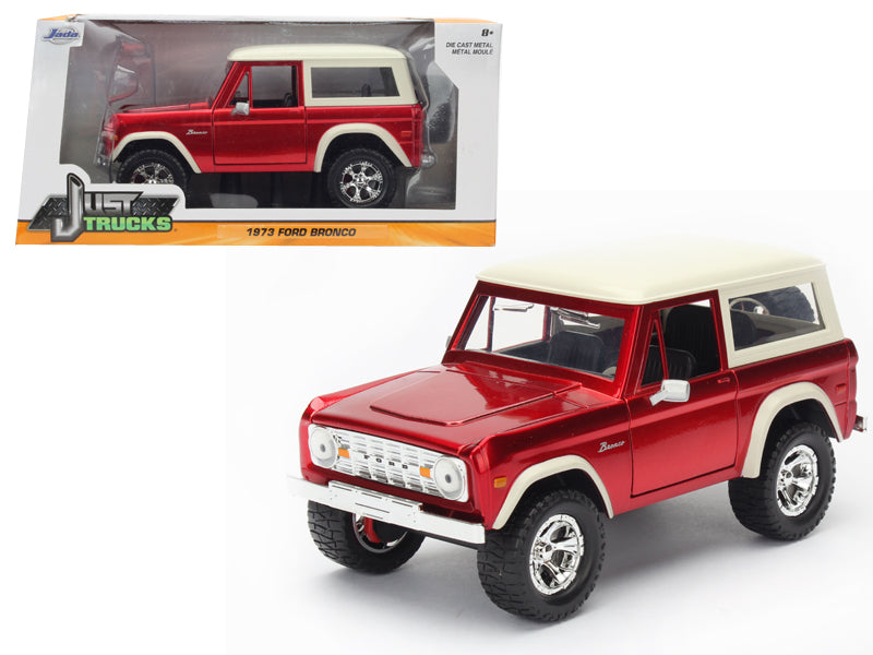 1973 Ford Bronco Red 1/24 Diecast Model Car by Jada - BeTovi&co